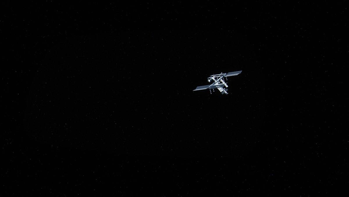 Mezinárodní vesmírná stanice ISS ve vesmíru.
